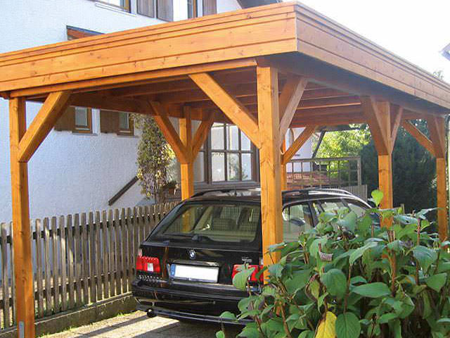 carports garagen aus holz beste qualit t vom profi. Black Bedroom Furniture Sets. Home Design Ideas
